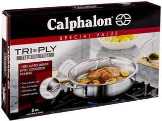 Calphalon Tri-Ply Stainless Steel 5-qt. Covered Saute Pan