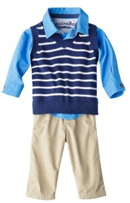 Osh Kosh Genuine Kids from OshKosh Newborn Boys' 3 Piece Sweater Vest, Shirt and Pant Set - Blue