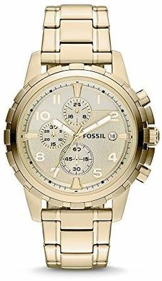 Fossil Men's Dean Quartz Stainless Steel Chronograph Watch