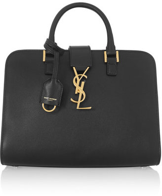 Saint Laurent - Monogramme Cabas Baby Leather Tote - Black $1,990 thestylecure.com