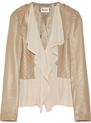 ALICE by Temperley Alexander leather and georgette jacket