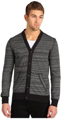 Ecko Unlimited Stripe Jersey Cardigan (Black) - Apparel