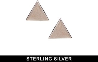 Asos Sterling Silver Triangle Earrings