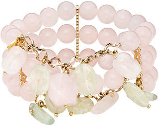 Ice.com Pink and Green Quartz Bracelet by Kanchan Couture
