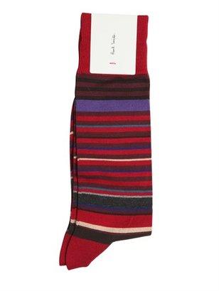 Paul Smith Striped Cotton Blend Socks