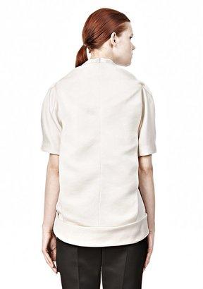 Alexander Wang Draped T-Shirt With Kangaroo Pocket