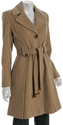 DKNY camel wool blend 'Breane' belted coat