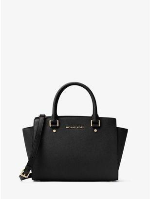 Selma Saffiano Leather Medium Satchel $298 thestylecure.com
