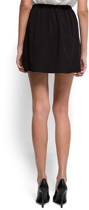MANGO Asymmetric pleat miniskirt