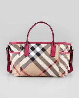 Burberry Girls' Check Tote Bag, Rhubarb Pink