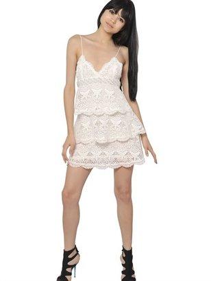 Emilio Pucci Beaded Cotton Macramé Dress