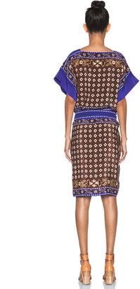 Chloé Sleeveless Mid Length Sheeth Dress in Bohemian Flower