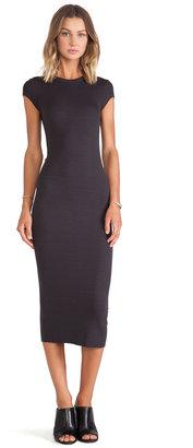 Enza Costa Silk Rib Cap Sleeve Dress