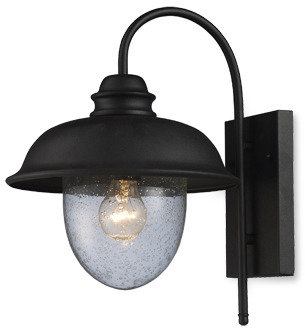 Bed Bath & Beyond ELK Lighting Streetside Cafe 1-Light Medium Outdoor Sconce (Matte Black)