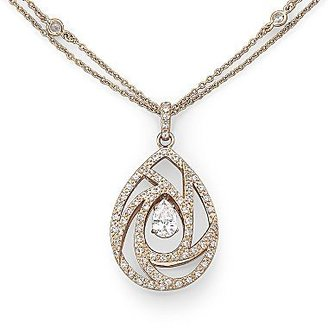 JCPenney Alexandra Gem Lab-Created White Sapphire Necklace