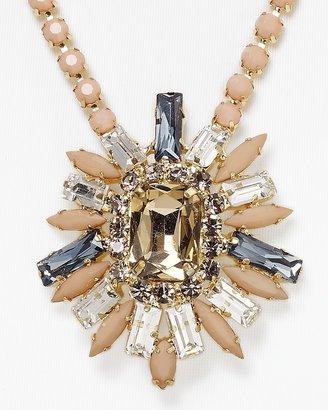 "Cara Accessories Blush Flower Pendant Necklace, 22"""
