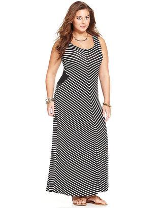 American Rag Plus Size Sleeveless Striped Maxi Dress