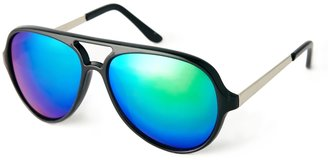 Asos Plastic Aviator Sunglasses With Mirror Lens