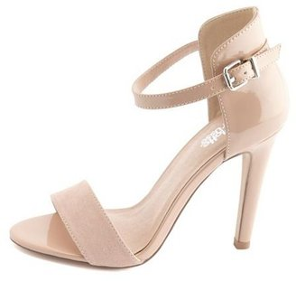 Charlotte Russe Ankle-Strap Single Sole Heel