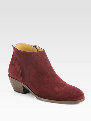 Saks Fifth Avenue 10022-SHOE Amy Suede Ankle Boots