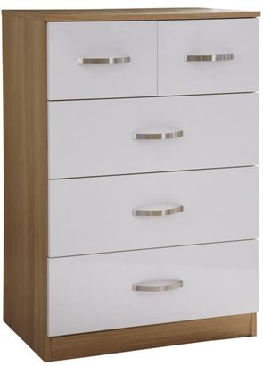 Panacea High Gloss 3 + 2 Chest Of Drawers