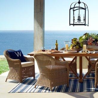 Williams-Sonoma Riviera Stripe Indoor/Outdoor Rug, Dress Blue