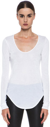 Helmut Lang Kinetic Jersey Tee in Optic White