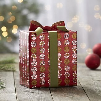 Crate & Barrel Peppermint Candy Gift Wrap.