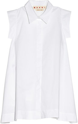 Marni Cotton-poplin A-line shirt