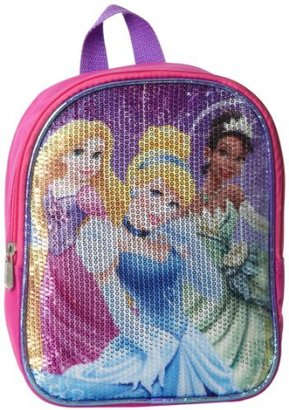 Disney Little Girls' Multi Princess 10 Inch Sequin Mini Backpack