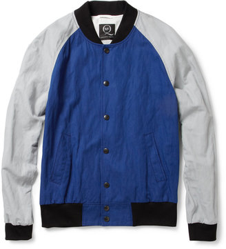 McQ by Alexander McQueen Cotton-Blend Baseball Bomber Jacket