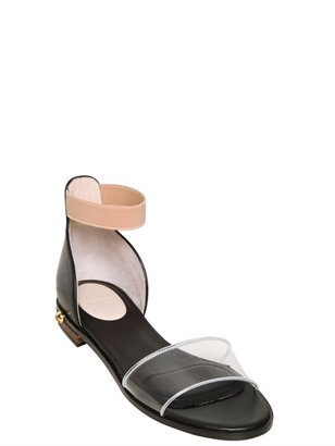 Givenchy 10mm Vinyl And Calfskin Flats