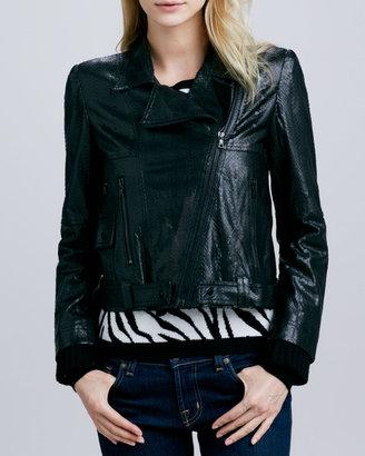 Alice + Olivia Astor Leather Biker Jacket