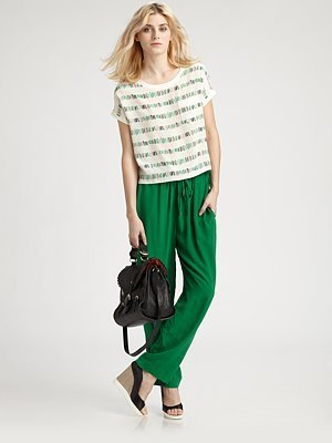 See by Chloe Funny Fries Cropped Blouse