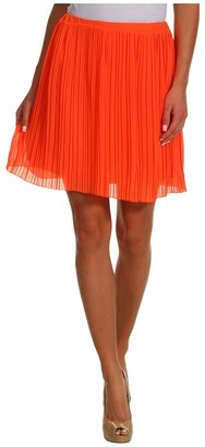 Brigitte Bailey Rachel Pleated Skirt (Orange) - Apparel