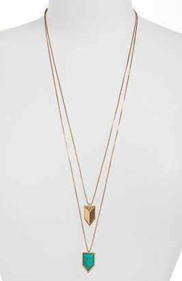 Vince Camuto 'Clearview' Double Pendant Necklace (Nordstrom Exclusive)
