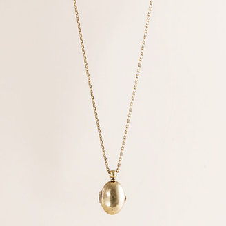 J.Crew Oval heirloom locket necklace