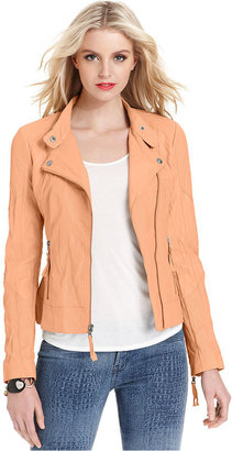 GUESS Jacket, Faux-Leather Motorcycle