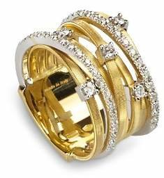 Marco Bicego 18K Yellow Gold Goa Seven Row Ring with Diamonds