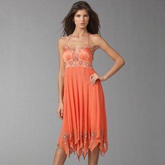 Sue Wong Empire Silk Slip Dress
