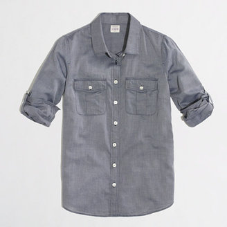 J.Crew Factory End-on-end camp shirt in perfect fit