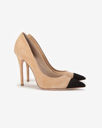 Jean-Michel Cazabat Exclusive Two Tone Suede Pointy Toe Pump