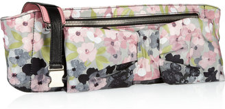 Valentino Floral-print faille bow belt bag