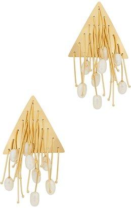 Jil Sander Multi Lines Gold-plated Earrings