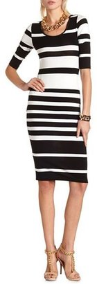 Charlotte Russe Striped Body-Con Midi Dress
