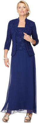 Alex Evenings Sparkled Jacquard Gown and Jacket $179 thestylecure.com