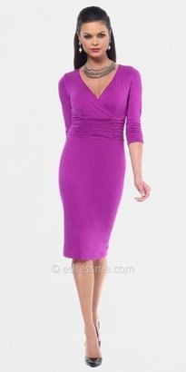 Berry Ruched Sheath Day Dresses from NUE by Shani