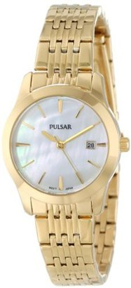 Pulsar Unisex PH7232 Analog Japanese-Quartz Gold Watch $49 thestylecure.com