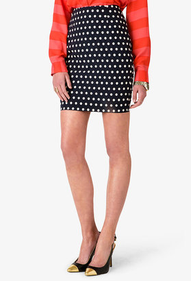 LOVE21 LOVE 21 Essential Polka Dot Pencil Skirt