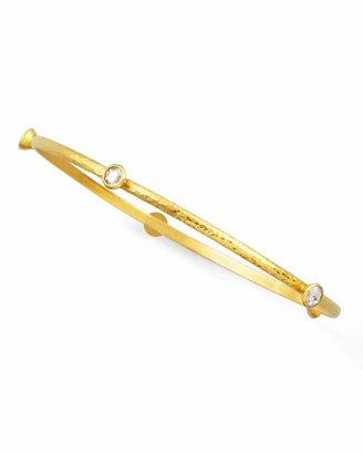 Gurhan Skittle 24k Gold Thin 5-Diamond Bangle